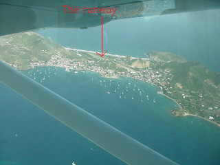 An overview of the island and runway.